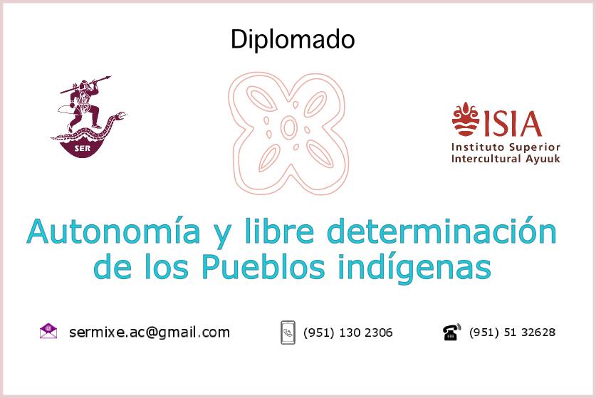 """Comunicación oficial sobre Diplomado """"Autonomía y Libre determinación de los Pueblos indígenas"""""""